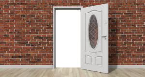 Grafik: Robuste Tür in einer Wohnung